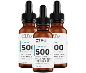 10xPURE™ Full Spectrum CBD Oil Drops - 500mg - 3 Pack
